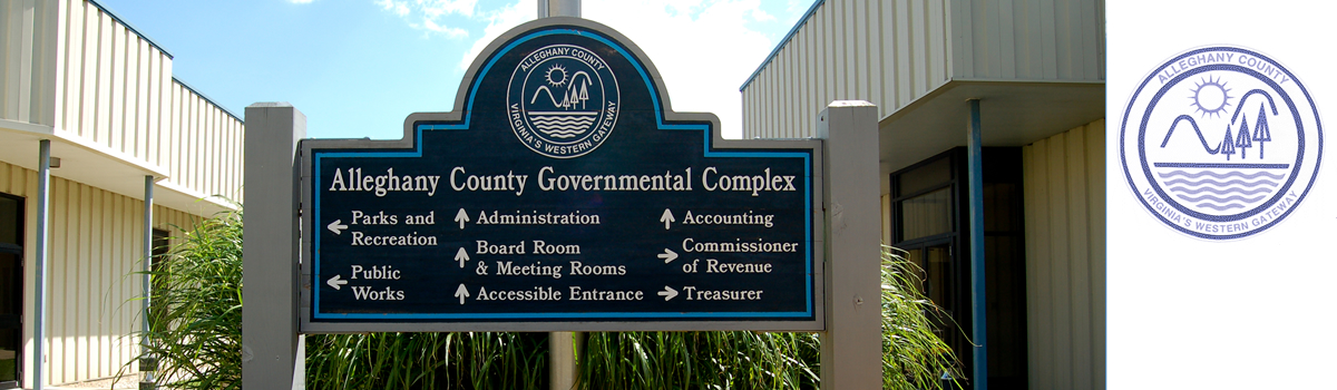 Alleghany County Virginia Governmental Office signage