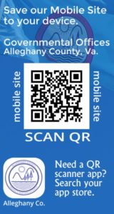 Alleghany County Virginia - Governmental Offices - Scan QR code to save the site to your mobile device.