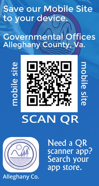 Alleghany County, Virginia Governmental Offices - Scan QR to save the mobile site to your device.